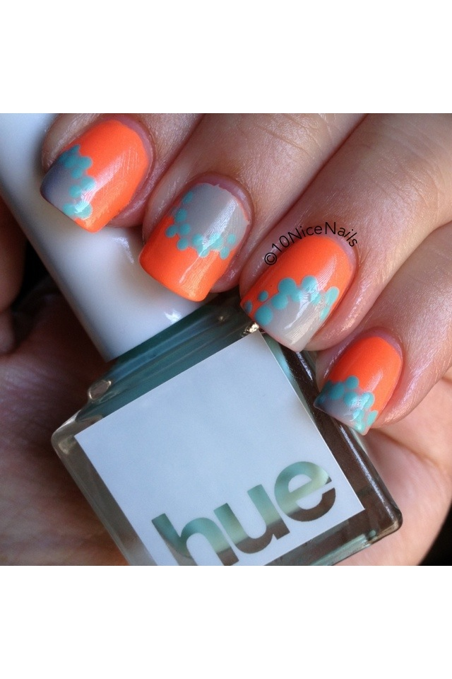 SquareHue SoCal nail art by 10NiceNails :: 10nicenails.wordpress.com