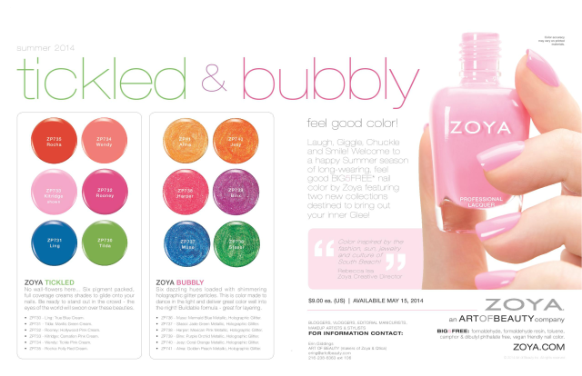 Zoya Tickled & Bubbly Promo 2